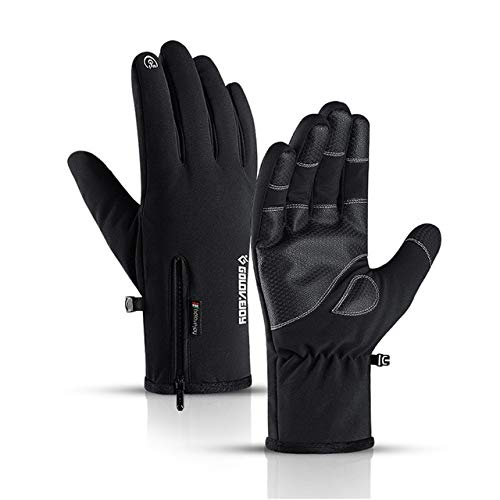 Winter wasserdichte Handschuhe Touchscreen rutschfeste Reißverschlusshandschuhe Männer Frauen Reiten Skifahren Warme Flusen Komfortable Handschuhe Verdickung-a2-M Palm Width 8-8.5CM