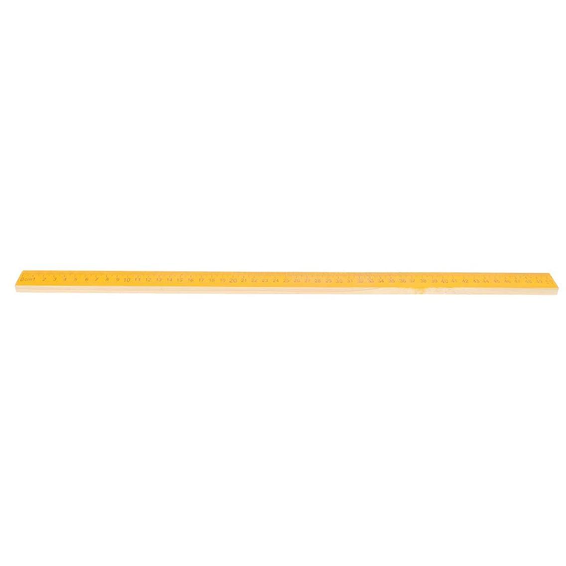 テクニカル雑品ダム全2サイズ メートルスケール 定規 ルーラー ウッド製 文房具 黒板 教授ツール - 50cm