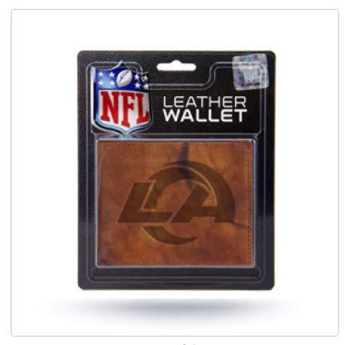 Rico Industries Fan-Shop Embossed Leather Billfold Wallet with Man Made Interior NFL Los Angeles Rams Geldbörse aus geprägtem Leder, mit künstlichem Innenleben, Teamfarbe, 3.25 x 4.25
