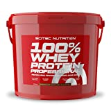 Scitec Nutrition 100% Whey Protein Professional con aminoácidos clave y enzimas digestivas adicionales, sin gluten, 5 kg, Chocolate-Avellana