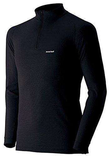 (モンベル)mont-bell ジオラインL.W.ハイネックシャツ Men's 1107488 BK ブラック M