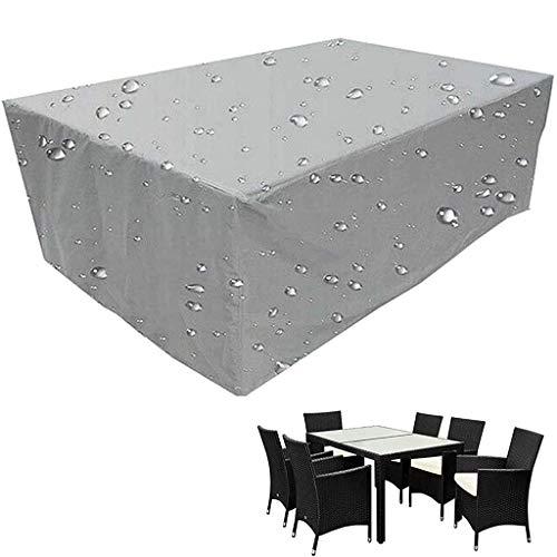 Juego de Funda para Muebles, Oxford 210D Cubierta de Mesa Patio para Muebles Grandes, Anti-UV Protección Exterior Muebles de Jardín Cubiertas de Mesa y Silla