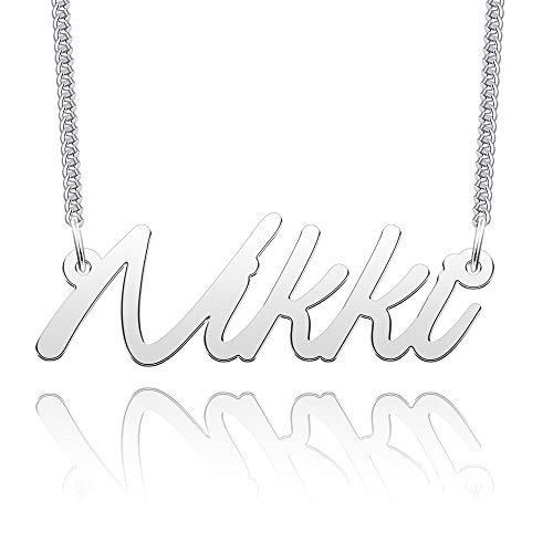 EV.YI Jewels Stainless Steel Number Personalize Custom Name Necklace