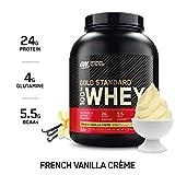 OPTIMUM NUTRITION GOLD STANDARD 100% Whey Protein Powder, French Vanilla Creme, 5 Pound (Packaging...