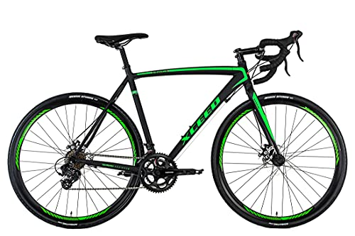 Rennrad 28\'\' Xceed Gravelbike schwarz-grün RH 58 cm KS Cycling