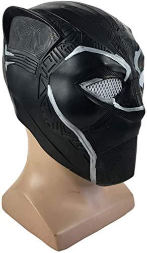 BENREN Marvel Avengers Mscara de Pantera Negra, Disfraz de Halloween, Casco de Pantera Negra, Pelcula de Ltex, Cosplay para Adultos,Black
