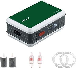Felimoa エアーポンプ USB充電式 電池不要 最大使用25時間~ 静音30db 15秒等間隔タイマー 防滴 釣り/水槽/活かし輸送などに アクリル板仕様