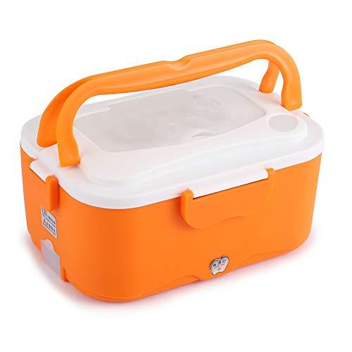 12V Brotdose - 1.5L tragbare 12V / 24V Auto elektrische Heizung Brotdose Bento Speisenwärmer Container für Reisen (Größe : Orange 12V)
