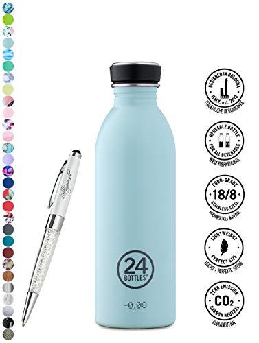 24 Bottles Bottiglia di acqua Urban 250 ml   500 ml   1000 ml colori diversi 24bottles, Contenuto:500 ml, Colore:cloud blue
