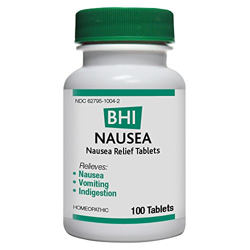 BHI Nausea Relief Natural, Safe Homeopathic Relief - 100 Tablets
