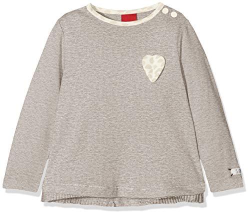 s.Oliver Baby-Mädchen 65.808.31.8153 Langarmshirt, Grau (Light Grey Melange 9400), 92