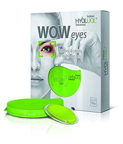 Hyalual-Gel WOW Augenmaske – strafft, glättet und strafft empfindliche Haut um die Augen – Perfekte Augenhautpflege entfernt dunkle Kreise, Augenbeutel, Schwellungen