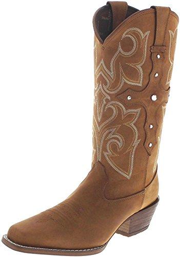 Durango Boots Cross Strap DRD0090 Tan/Damen Westernstiefel Braun/Cowboystiefel/Damenstiefel, Groesse:38.5 (7 US)