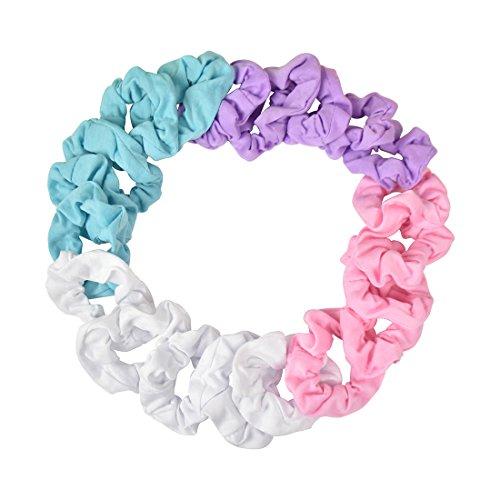 20 Pack Small Scrunchies Cotton Hair Elastics - Pastels