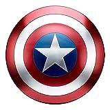 Avengers Réplica de Marvel Escudo Capitan America 60Cm Edición 75 Aniversario,1:1 Accesorios de Disfraces Retro de Halloween Para Adultos Accesorios Bar Escudo Decoraciones Para Colgar