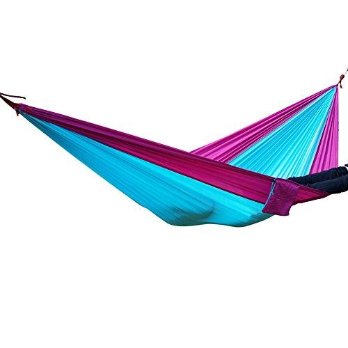 Nouvelle dans le sac Nylon Camping Hamac arbre en arbre bleu//vert couleur comprend bretelles