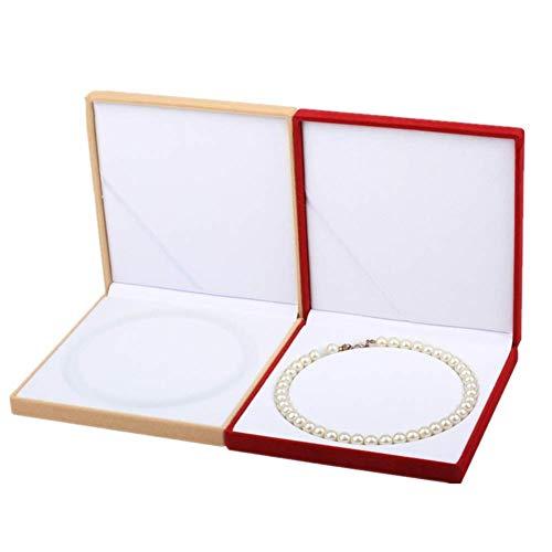 ZCECCO kleine Schachteln geschenkkarton Rote Halskette Box Gelbe Schmuckschatulle Schmuckaufbewahrung Hübsche Aufbewahrungsboxen Vitrine Schmuckkoffer Set