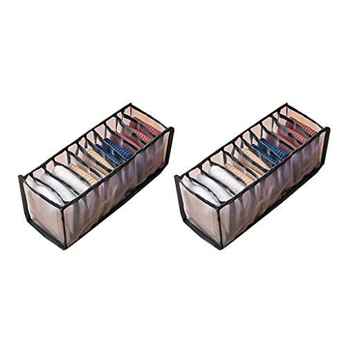lfdhcn Caja de Almacenamiento de Ropa Interior Plegable Calcetín Sujetador Ropa Interior Organizador Cajón de Malla de celosía