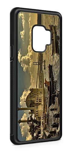 Kompatibel mit Samsung Galaxy S9 Silikon Handyhülle Flexibles Slim Case Türkei Türkiye Fahne Flagge Schwarz