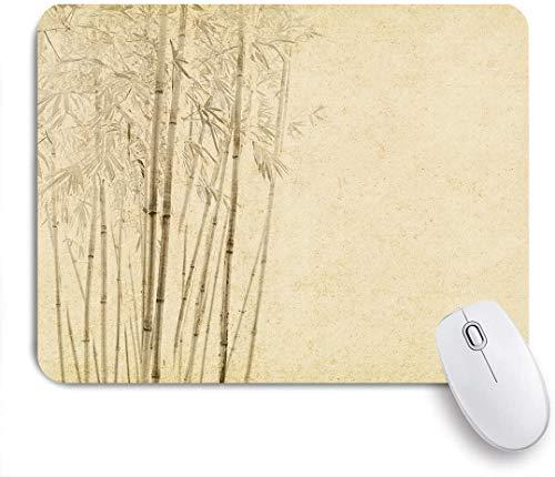 DAHALLAR Gaming Mouse Pad Rutschfeste Gummibasis,Bambus auf altem Grunge-Kunstdruckpapier,für Computer Laptop Office Desk,240 x 200mm