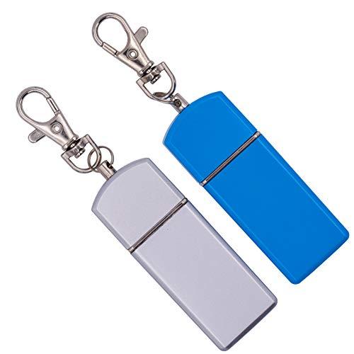 Tragbarer Aschenbecher - WENTS 2PCS moderner und innovativer tragbarer Aschenbecher, Aschenbecher mit abgedeckter Tasche, Schlüsselanhänger, auf Reisen zu tragen