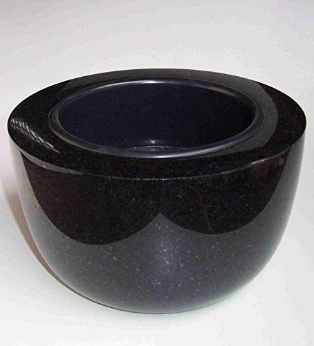 designgrab Coupe funéraire moderne - Diamètre : 25 cm - En granit suédois noir SS1