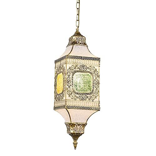 Ye Wang Linterna marroquí Tiffany lámpara Colgante turca Araña árabe Pantalla Mosaico Vintage Iluminación de Techo Sala de Estar Dormitorio Comedor Cocina Decoración Lámpara Colgante E27