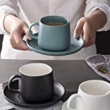 Juego de platillo y taza de café capuchino clásico de vajilla-Blanco cristal de nieve_Convencional