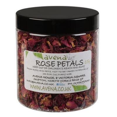 Générique Pot de 15 g de confettis pour Le Bain, pétales de Roses