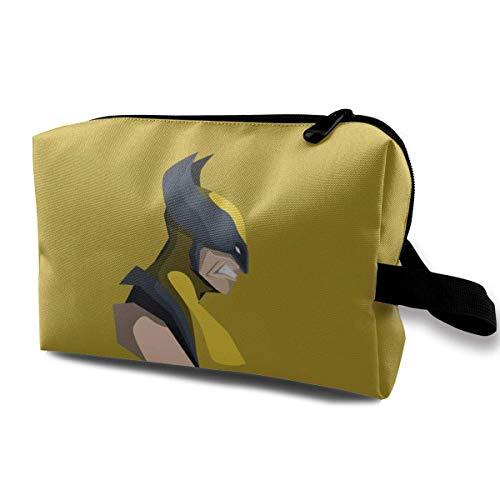 Bolsa de maquillaje de viaje de anime con bolsa de cosméticos de muñeca, bolsa de aseo portátil con cremallera para niñas y mujeres