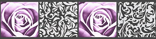 A.S. Création selbstklebende Bordüre Only Borders 9 Borte schwarz lila 901910