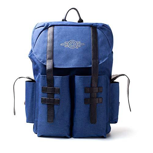 Fallout 76 Vault-tec Gold Foil Logo Backpack, Unisex, One Size, Blue Melange/Black (BP222483FAL) Rucksack, 41 cm, Blau (Blue)