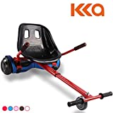 Hishine Hoverboard Cart Fits 6.5'/8'/10' Size Self Balancing Scooter, Hoverboard Kart Attachment with Adjustable Seat Frame