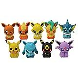 9 Pz/Set Figure Anime Pokemon Pikachu Portachiavi Squirtle Bulbasaur Vulpix Eevee Abra Litten Action Figure Bambole In Pvc Modello Giocattoli Per Bambini
