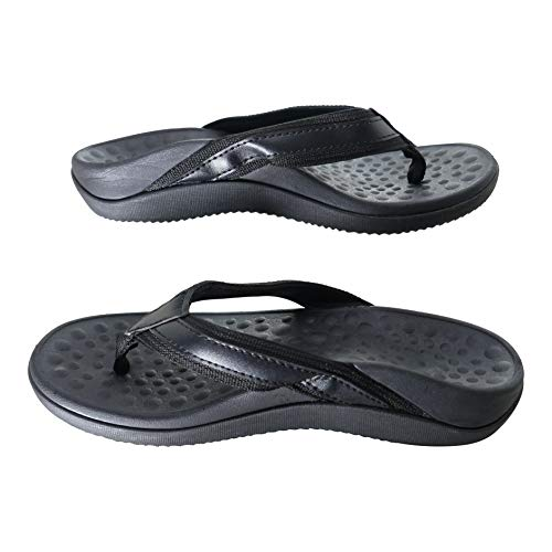 Or8 Wellness Orthotic Sandals. Plantar Fasciitis Relief with built in Arch Support & Heel Cup. Sturdy & Comfortable. Black. (4 UK/37 EU)