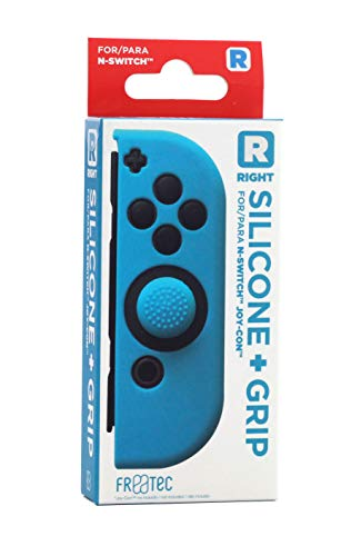 FR·TEC - Funda Silicona + Grip Para Joy- Con Azul Derecho - Nintendo Switch