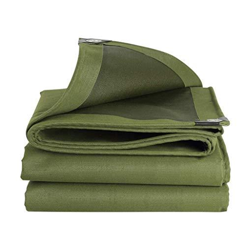QUETAZHI 3x3m / 9.8ftx9.8ft schweren Wasserdichten Plane - Polyethylen hohe Dichte Gewebeplane grüne Platte - Qualitätsabdeckung von 600 g/m aus Plane (Größe: 13.1 & Zeiten; 19.7ft) QU-228