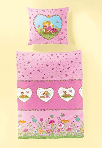 """Bierbaum Wohnen 2239_01 135x200cm Renforcé-Kinder-Lizenz-Bettwäsche """"Prinzessin Lillifee"""" rosa"""