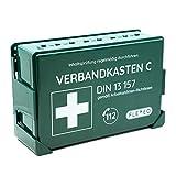 Betriebsverbandkasten, Verbandskasten gefüllt für Betriebe in grün mit Wandhalterung für...