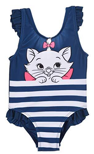 Les Aristochats, Maillot De Bain 1 Pièce Bébé Fille,12 mois,Bleu-Bleu Marine