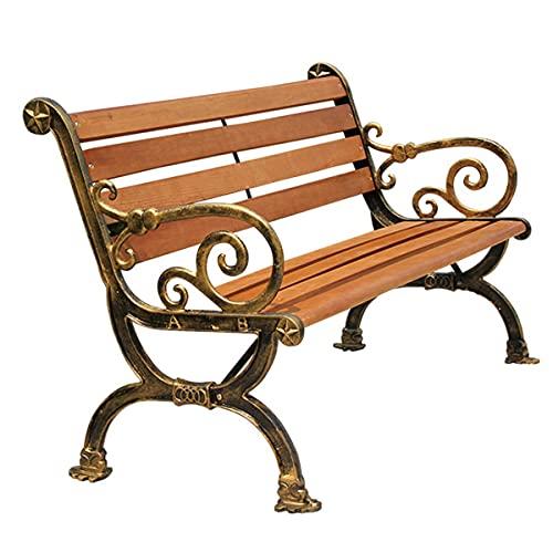 STEPPE Muebles De La Silla del Porche del Patio,Banco Madera Exterior,2 Asientos para Todo Clima, Bancos De Jardin Exterior