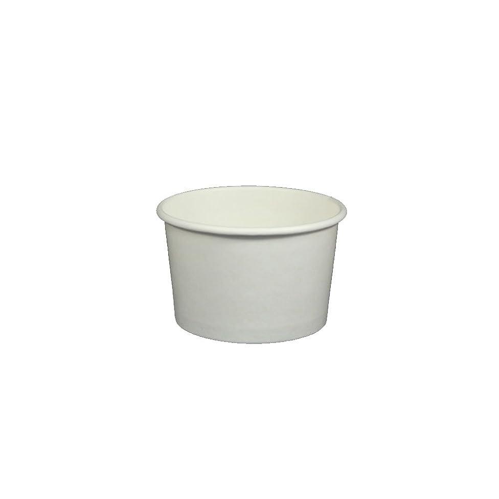 Yocup 4 oz. White Paper Ice Cream / Frozen Dessert Cup - 100 ct