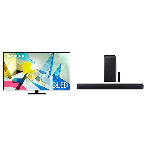 SAMSUNG 65-inch Class QLED Q80T Series - 4K UHD Smart TV with Alexa Built-in (QN65Q80TAFXZA, 2020 Model) + HW-Q900T 7.1.2ch Soundbar with Dolby Atmos/DTS:X and Alexa Built-in (2020), Black
