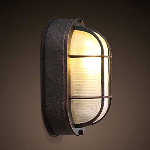 DSJ Amerikaans dorp ingang gang slaapkamer wandlamp retro creatieve persoonlijkheid aluminium glas kleine plafondlamp