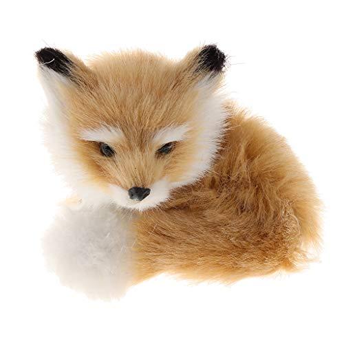 Homyl Kleine Fuchs Figur Kuscheltier Stofftier Spielzeug Dekoration - Größe_A