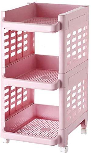 Rack solido della cucina, impilabili scaffalature di stoccaggio di frutta pavimento al piano di plastica, soggiorno camere da pranzo, cucina di casa scaffali cavi (dimensioni 33.5 * 39.5 * 66 cm) (Dim