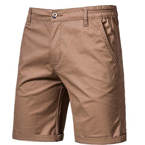 N\P Hombres Casual Negocios Social Cintura Elástica Hombres Cortos 10 Colores Pantalones Cortos Playa