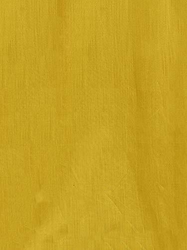 Akhilam Womens Chanderi Cotton Dress Material(Salwar Suit Sets For Women Readymade1014_Mustard_Free Size)