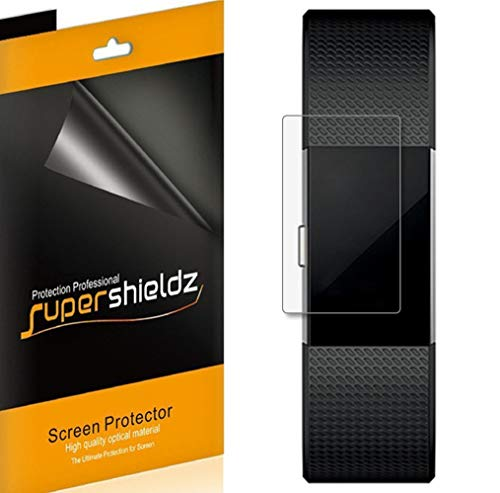 Supershieldz (6 Pack) for Fitbit Charge 2 Screen Protector, (Full Screen Coverage) 0.23mm High Definition Clear Shield