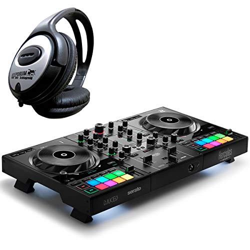 Hercules DJControl Inpulse 200 - Controller DJ a 2 tavole + accessori Keepdrum Inpulse 500 DJ Controller + Kopfhörer